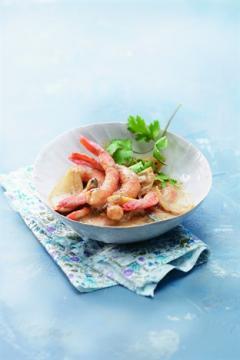 Crevettes au lait de coco