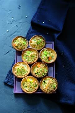 Tartelettes au haddock et aux pistaches