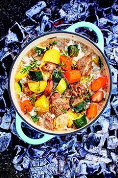 Agneau et légumes à l'étouffée