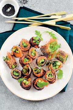 Roulés de saumon aux asperges