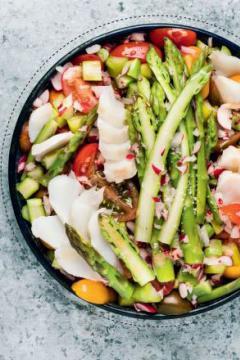 Salade vapeur cabillaud et asperges
