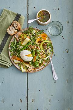 Salade d'épeautre aux asperges