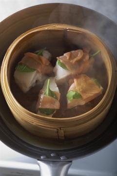 Cabillaud vapeur au saumon fumé, sauce au citron confit