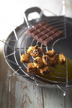 Beignets de carrés de chocolat
